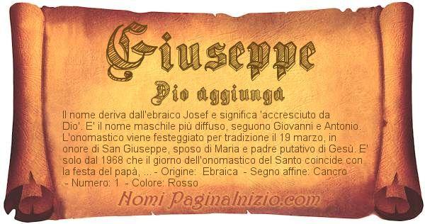 Nome Giuseppe
