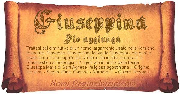 Nome Giuseppina