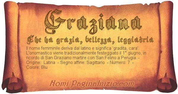 Nome Graziana