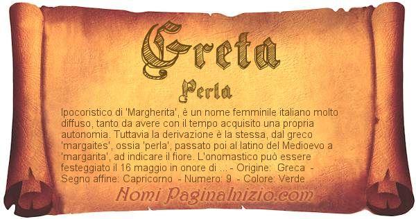 Nome Greta