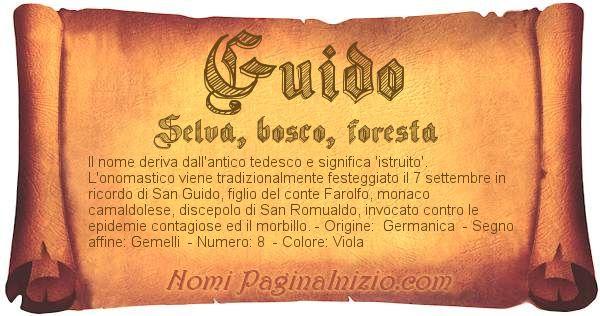 Nome Guido