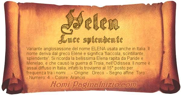 Nome Helen
