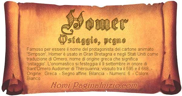 Nome Homer