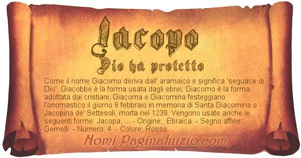 Nome Iacopo