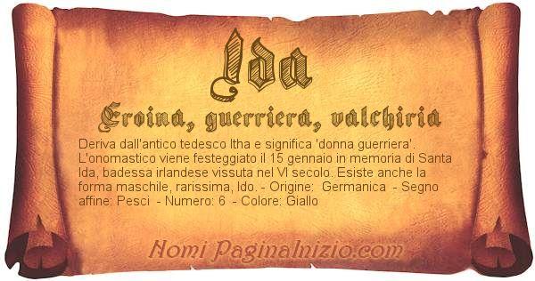 Nome Ida