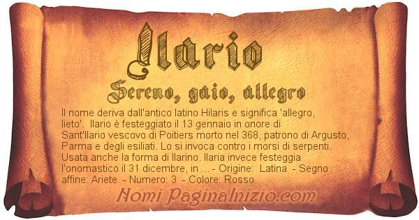 Nome Ilario