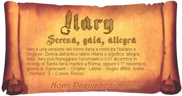 Nome Ilary