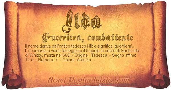 Nome Ilda