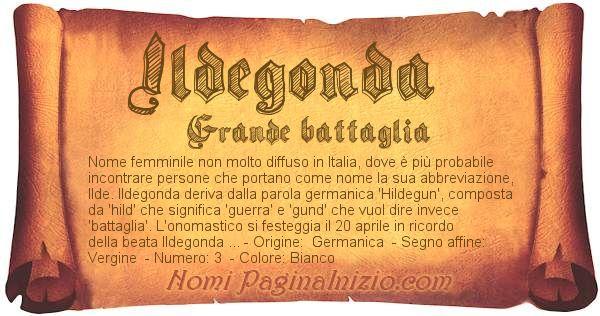 Nome Ildegonda