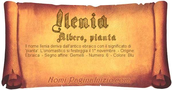 Nome Ilenia
