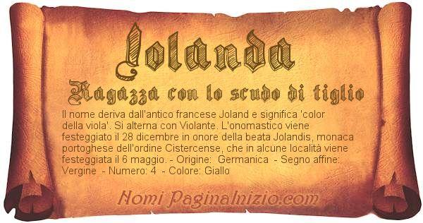 Significato Del Nome Iolanda