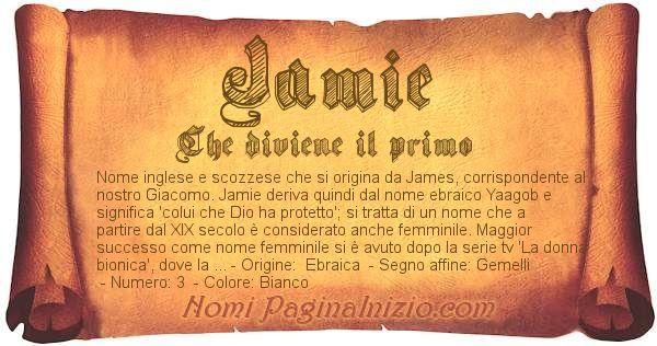 Nome Jamie