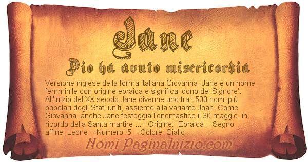 Nome Jane
