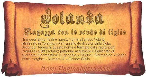 Nome Jolanda