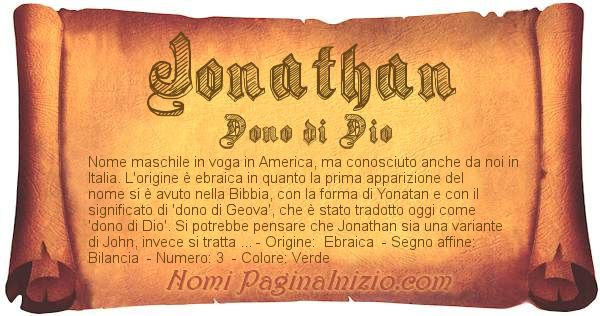 Nome Jonathan