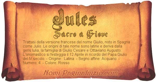 Pergamena col nome https://www.paginainizio.com/nomi/imgnomi/jules.jpg