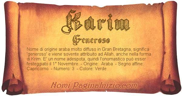 Nome Karim