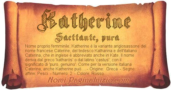 Nome Katherine