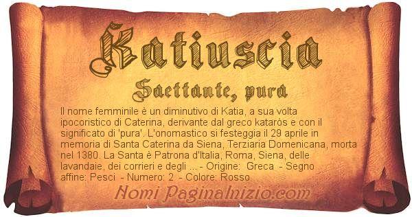 Nome Katiuscia
