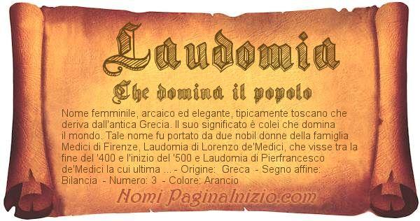 Nome Laudomia