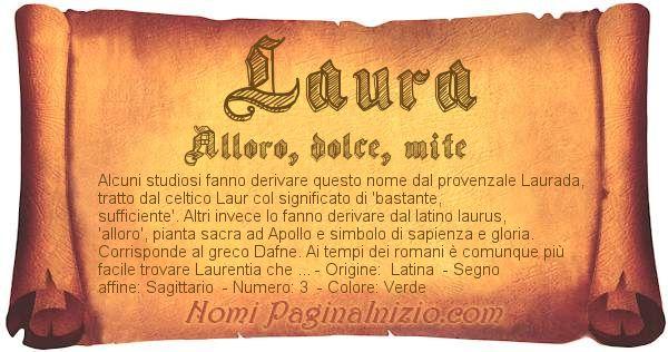 Nome Laura