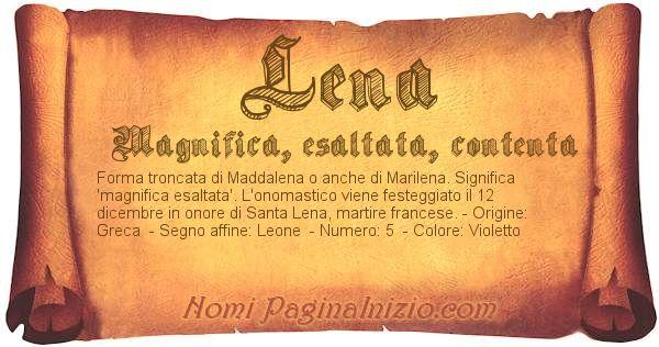 Nome Lena