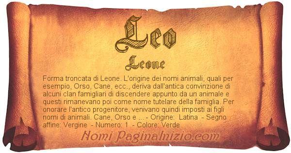 Nome Leo