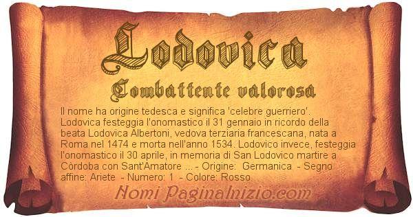 Nome Lodovica