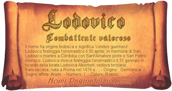 Nome Lodovico