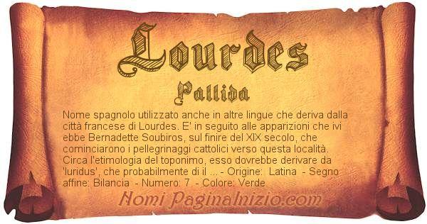 Nome Lourdes