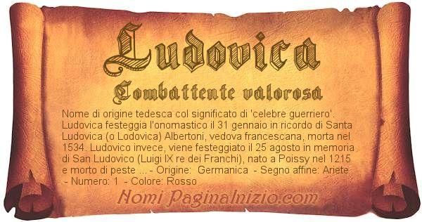 Nome Ludovica