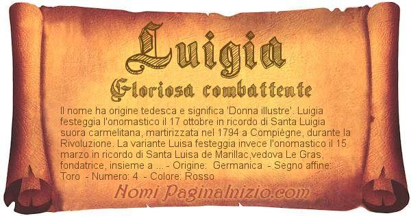 Nome Luigia