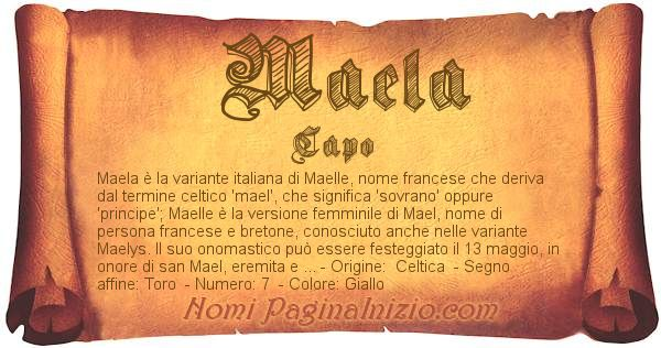 Nome Maela