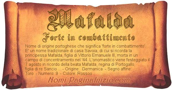 Nome Mafalda