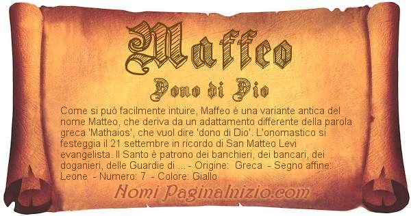Nome Maffeo