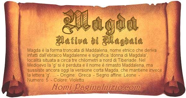 Nome Magda