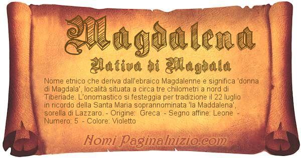 Nome Magdalena