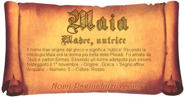 Nome Maia