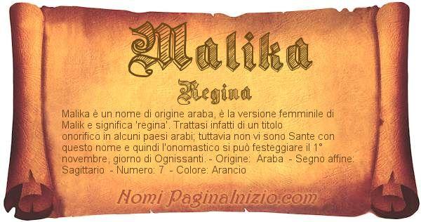 Nome Malika