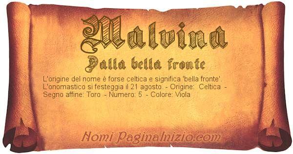 Nome Malvina