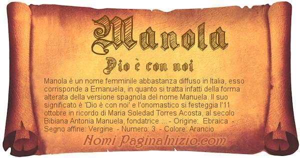Nome Manola