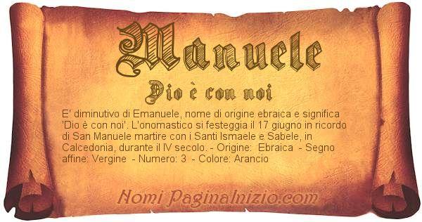 Nome Manuele
