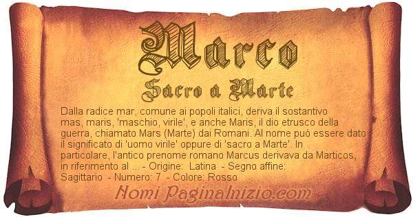 Significato Del Nome Marco
