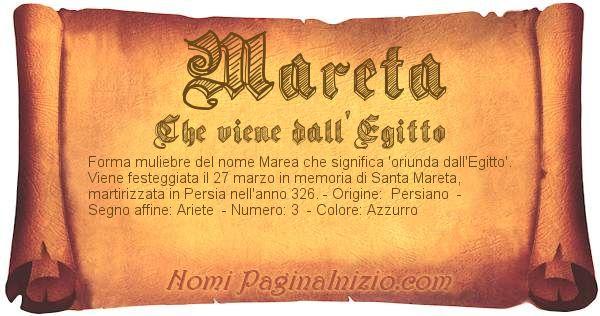Nome Mareta