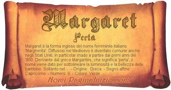 Nome Margaret