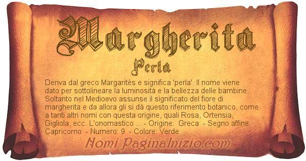 Nome Margherita
