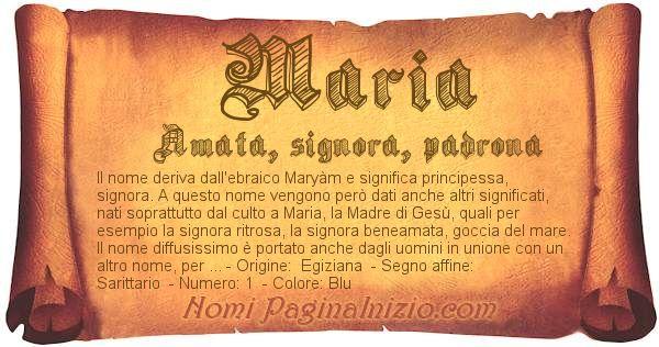 Nome Maria