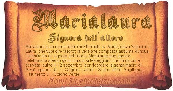 Nome Marialaura