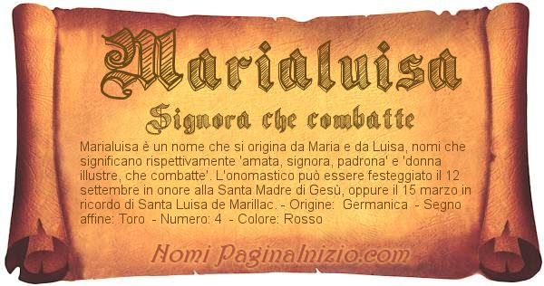 Nome Marialuisa