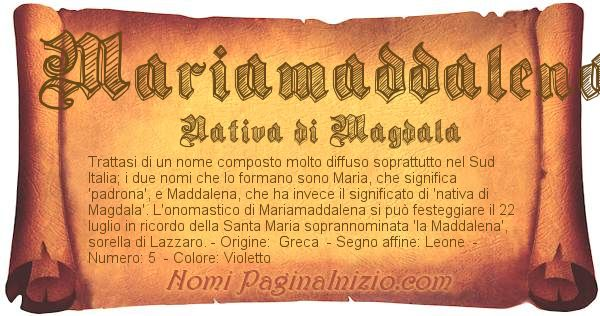 Nome Mariamaddalena